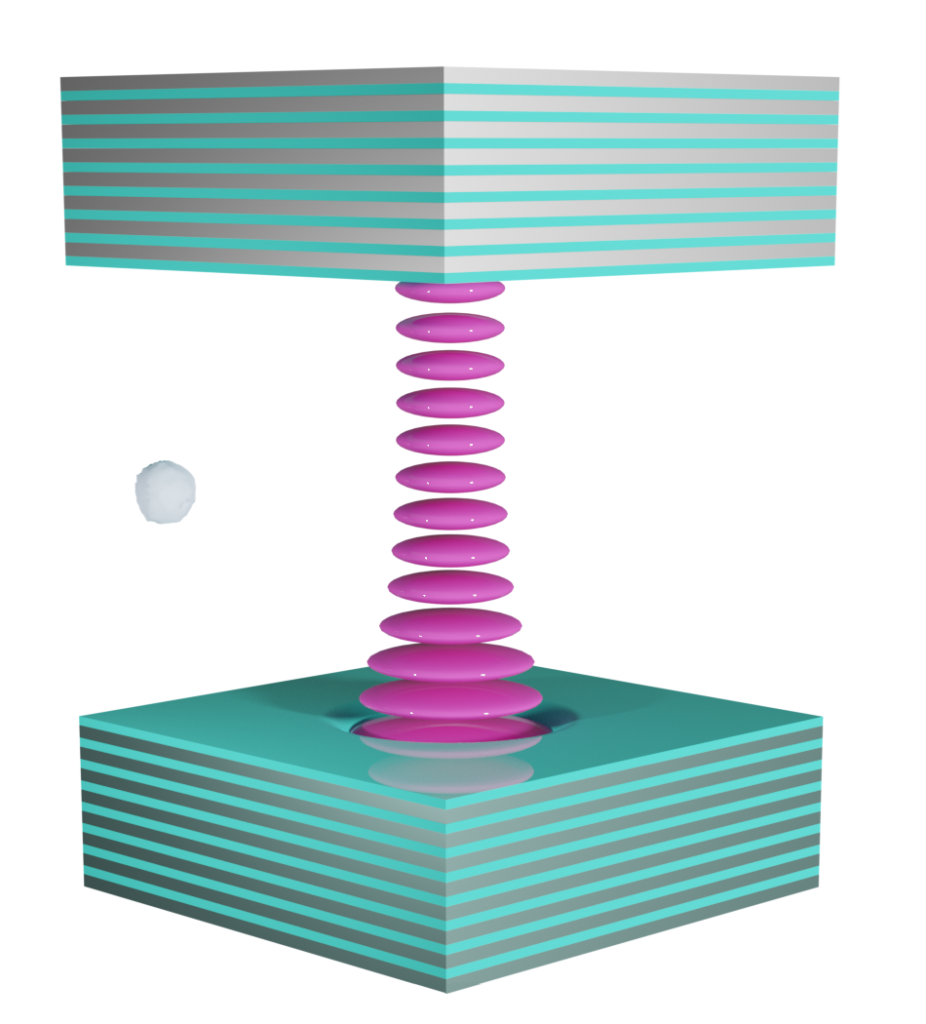 Optical cavity graphic. Pic: Oxford HighQ